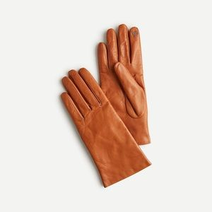 J. Crew Cashmere Lined Italian Leather Gloves